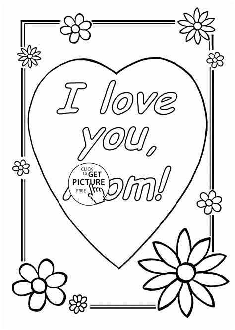 mothers day coloring pages for toddlers i you s day coloring page for