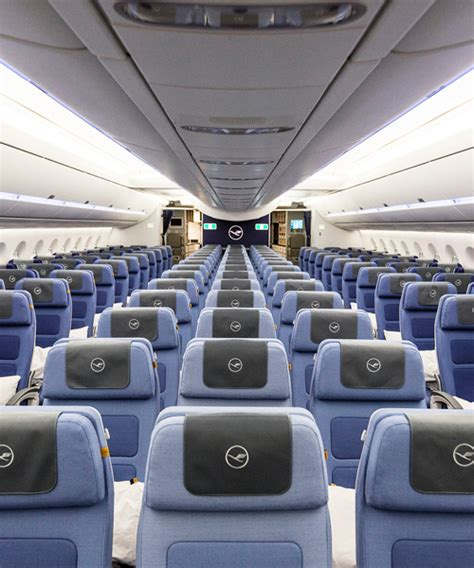 Cabin Class Economy by Pearsonlloyd Fits Out Lufthansa S A350 Economy Class Cabin