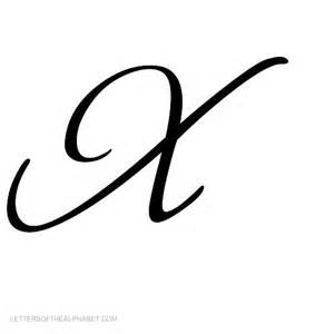 8 best images of script letter x script stock vector