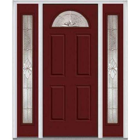 Steel Front Door With Sidelights Single Door With Sidelites Steel Doors Front Doors The Home Depot