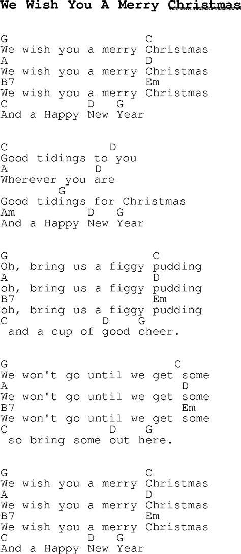 christmas carolsong lyrics  chords      merry christmas