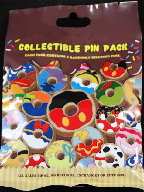 Mickey Mouse Blind Pack disney donut design pins 5 pack blind bag blindboxes