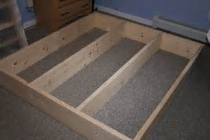 how to build a size platform bed frame with storage