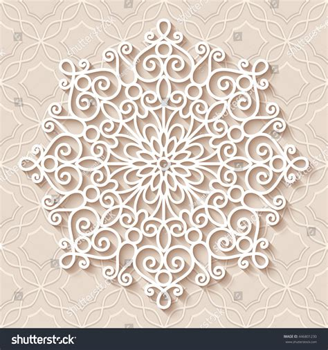 paper lace doily round crochet ornament stock vector paper lace doily decorative snowflake mandala round