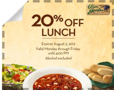 olive garden coupons utah kids 20 off at olive garden