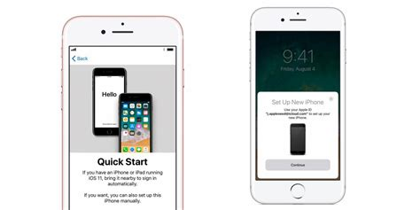 iphone start start and set up with device dramatically simplifies setting up new apple devices ios