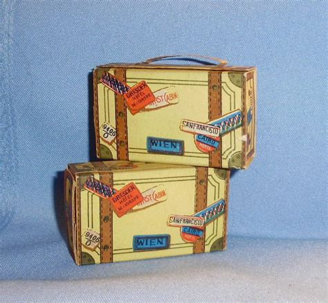 small dolls for doll houses cardboard small doll dollhouse luggage made in japan from hattonsgalleryofdolls on