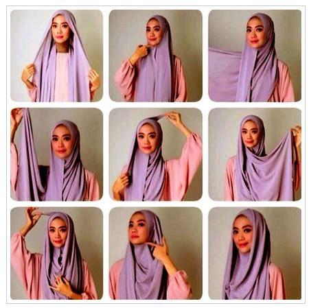 gambar tutorial jilbab syar i contoh gambar tutorial hijab yang sesuai syar i terbaru
