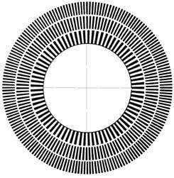 disk esterno alimentato a corrente disco stroboscopico per giradischi con illuminazione a led