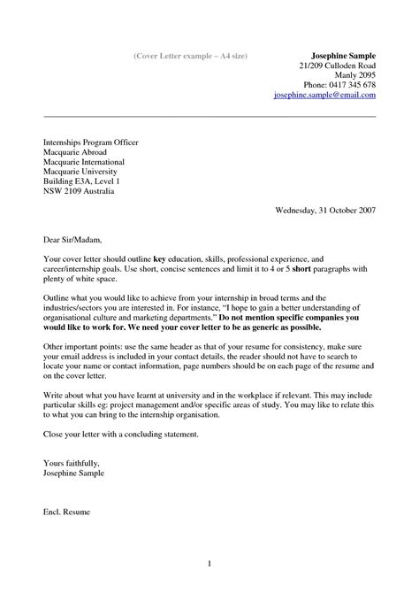 cover letter sles australia the best letter sle