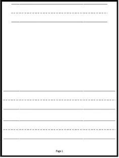 printable journal pages kindergarten writing paper