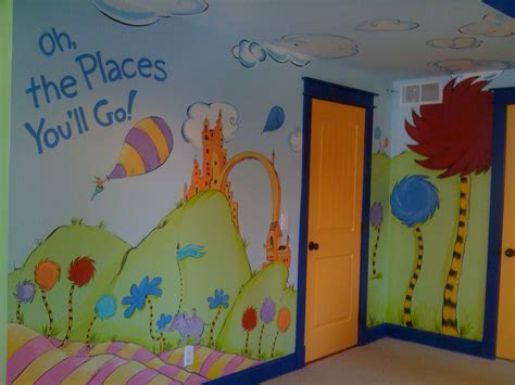dr seuss wall murals dr seuss oh the places you ll go playroom mural memehill home of amie freling brown