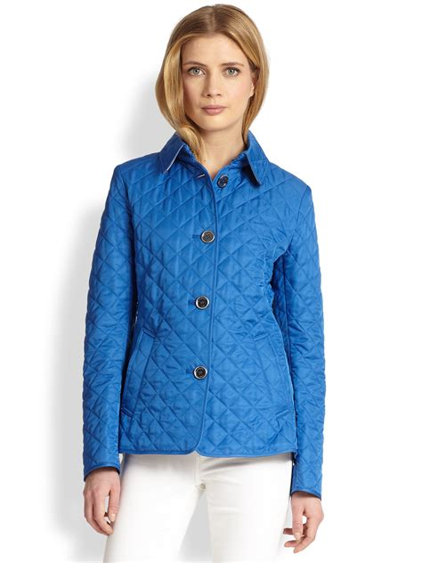 burberry brit copford quilted jacket in blue bright