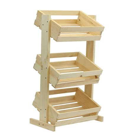 large wooden crates crates and pallet large tiered wood crate stand unfinished 69018 the home depot