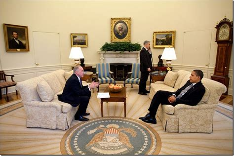 Bush S Fireplace by Cote De The Oval Office Before After