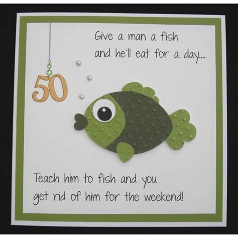 Fishing Birthday Cards Fishing Birthday Card Paper Crafts Pinterest