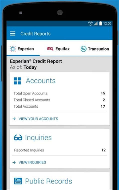 Credit Report Records Experian Provides Free Credit Report Monitoring Through Its Mobile App Credit Card