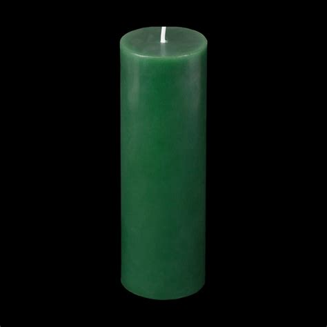 2x6 green pillar candle