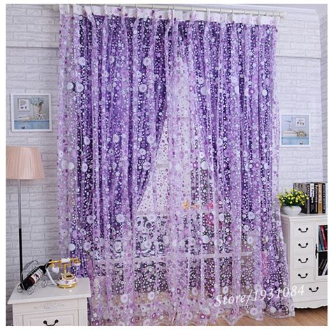 home decoration curtains pastoral purple sheer curtain for living room windows tulle curtain for the bedroom home decor