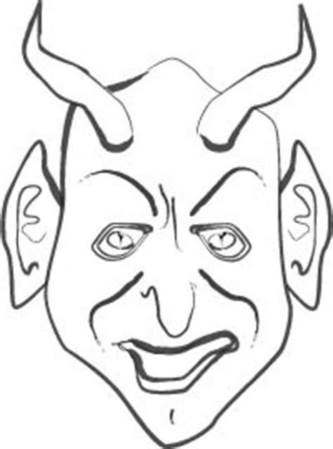 devil mask coloring craft sheet