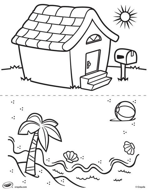 crayola coloring pages mexico first pages house and beach crayola ca