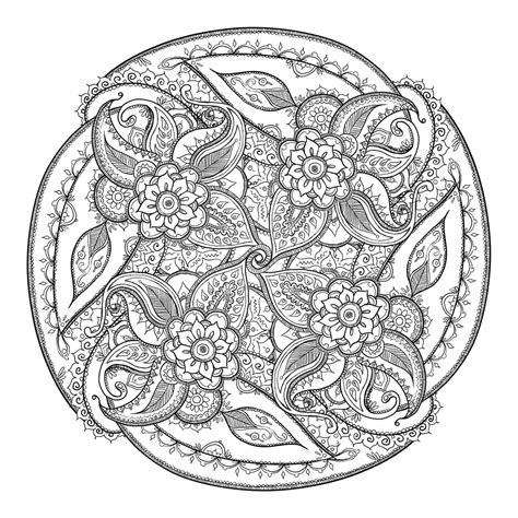 circle mandala coloring page small paisley circle by catzilladk deviantart com on