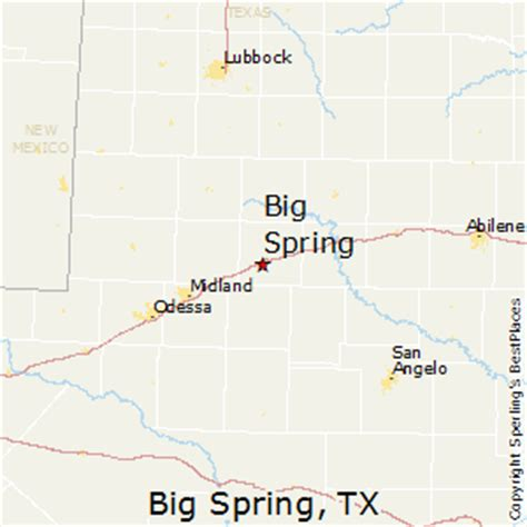 big springs texas map best places to live in big texas