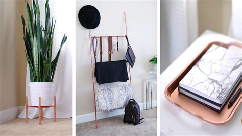home accessories how to make diy le beanock indoor diy copper plant stand accessory ladder home decor