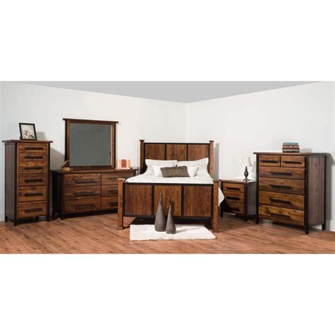 lucas valley collection bedroom set amish crafted furniture