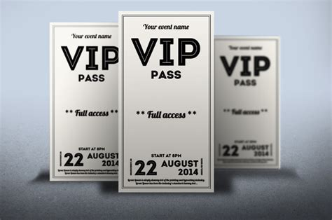 guest pass card template clean retro style vip pass card by tzochko on creative