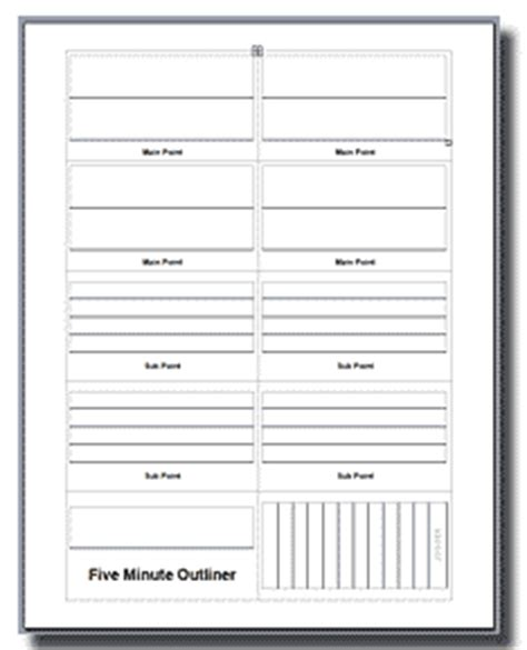 palm card template word five minute outliner outline fast personal success today