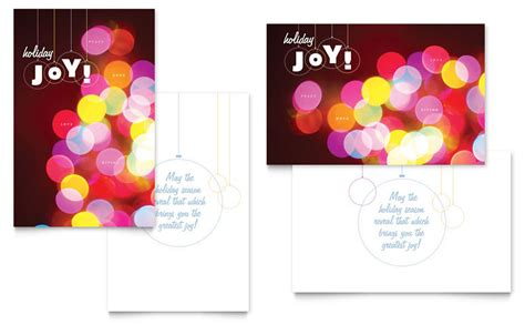 publisher template card modern lights greeting card template word publisher