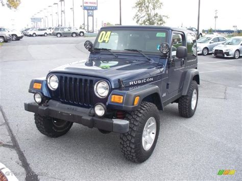 patriot blue jeep wrangler 2004 patriot blue pearl jeep wrangler rubicon 4x4
