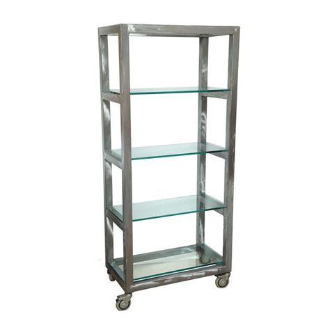 80 s soho loft stainless steel shelves on wheels at 1stdibs