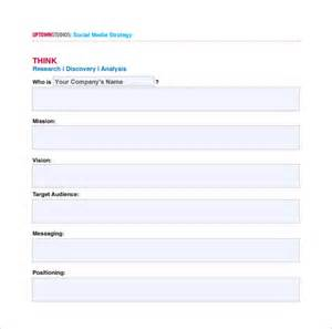 social media plan template free social media marketing plan template free word pdf