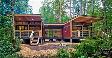 Prefabricated Cabin by Awesome Modern Modular Home Designs Zing By Quicken
