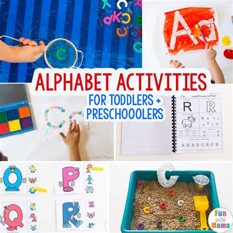 activities for alphabet activities for with