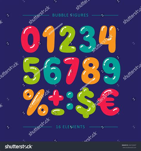 doodle numbers free doodle numbers colorful vector set stock vector
