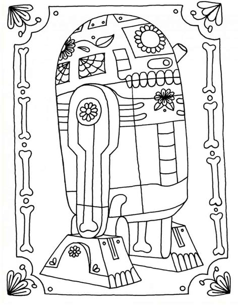 r2d2 coloring pages printable free coloring pages of r2d2 and c3poe