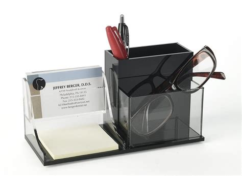 clear acrylic desk organizer clear acrylic desktop office supplies organizer w post it