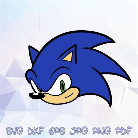 sonic head  hedgehog svg vector silhouette cricut