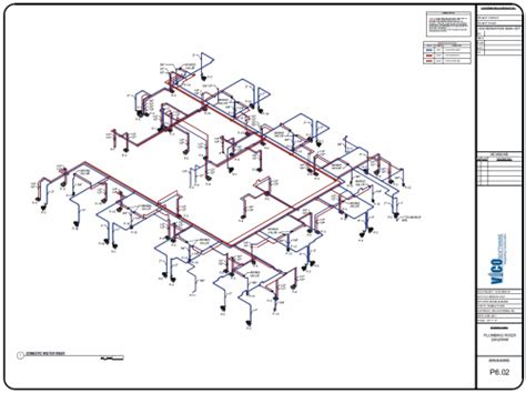 Isometric Plumbing Drawing by 2d Installation Drawings Coordination Resolution