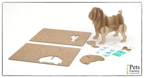 3d pug puzzle 41 best pets factory 3d eco cardboard puzzles images on laser cutting