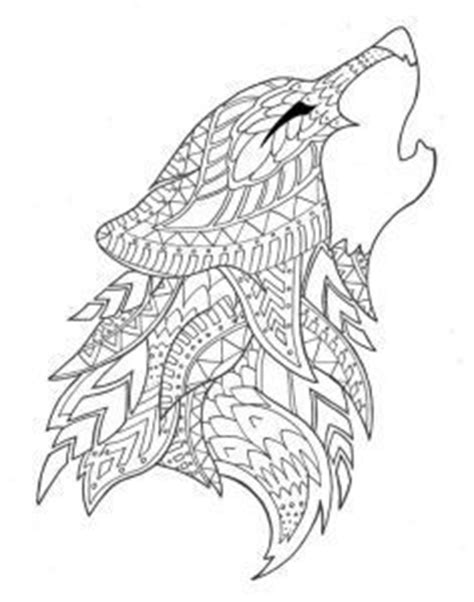 abstract wolf coloring pages wolf abstract doodle zentangle coloring pages colouring