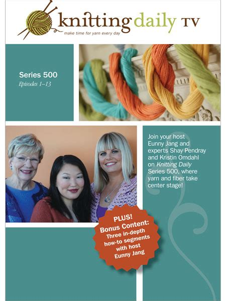 knitting daily tv show knitting daily tv series 500