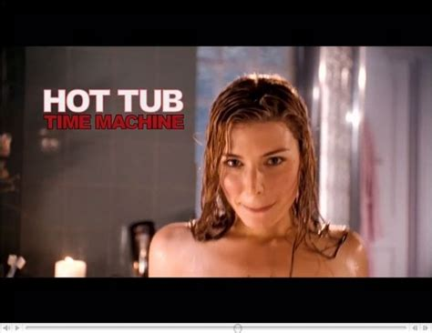 hot tub time machine bathroom scene jessica pare s bouncing hot tub time machine tv spot