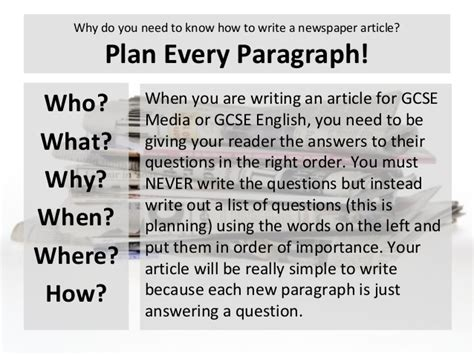 how to write a news paper article cold lesson 14 15 writing assessment 2