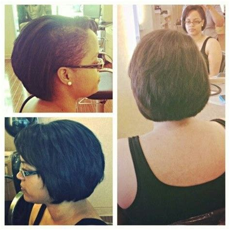 shaved side with a bob edgy shaved side layered bob by erica hair pinterest