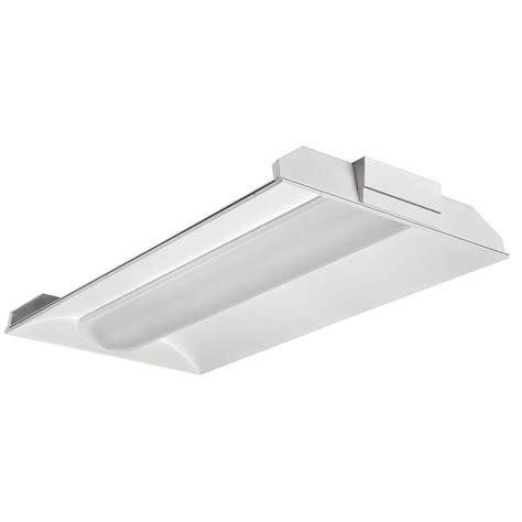 Lithonia Fluorescent Light Fixtures Lithonia Lighting 3 Light White Fluorescent Architectural Troffer 2vt8 3 32 Adp Mvolt Geb10ps