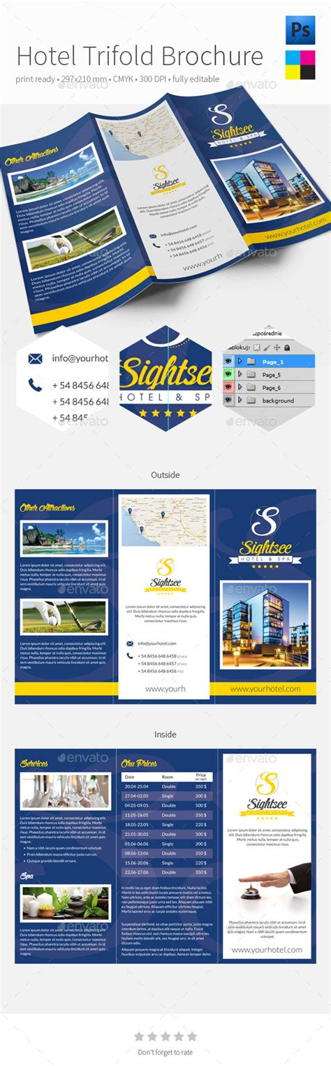 dl brochure template hotel dl trifold brochure graphicriver